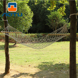 garden hanging chairs 2019 - Rough cotton rope mesh hanging chair Hammock Camping garden swing discount garden hanging chairs