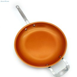 Steel Induction Canada - Sweettreats Round Non -Stick Copper Frying Pan With Ceramic Coating And Induction Cooking ,Oven &Dishwasher Safe 12 Inches