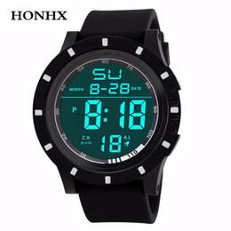 Men Digital Wrist Watches Australia - HONHX Men Fashion Sports Watch LED Digital Touch Screen Day Date Silicone Wrist Watch Men Casual Clock Relogio Masculino 40