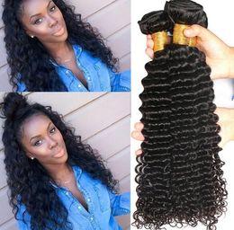 promotion brazilian virgin hair 2019 - 2018 Dyeable Peruvian Malaysian Mongolian Hair Products Brazilian Virgin Hair Deep WaveHuman Hair Weave No Tangle Factor