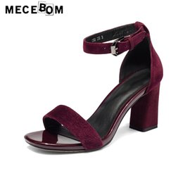 leather sandals for ladies 2019 - Women shoes fashion red high heel sandals for lady women pumps sapato feminino size 34-41 168w cheap leather sandals for