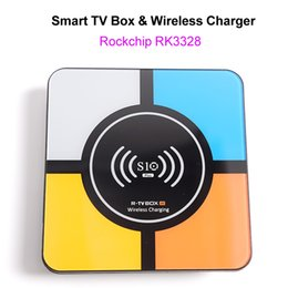 $enCountryForm.capitalKeyWord Australia - Android 8.1 Smart 4K TV Box with Wireless Charger for iPhone Samsung RK3328 Quad Core 4GB 32GB Wifi Media Player S10 Plus Smart Box