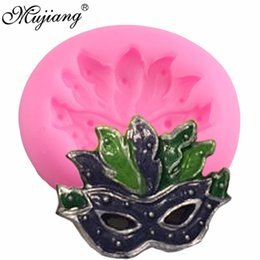 Discount decorated masks - Mujiang Masquerade Mask Cupcake Silicone Mold Wedding Cake Border Fondant Cake Decorating Tools Candy Chocolate Gumpaste