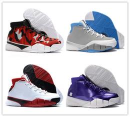 324701c176e6 2018 New Kobe 1 Protro MPLS Designer Sneakers AQ2728-001 Zoom 1 Protro All-Star  White Black Varsity Red Basketball Shoes With Box