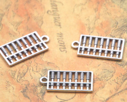 AbAcus chArms online shopping - 20pcs abacus charm Antique Tibetan silver tone abacus Charms Pendant x13mm