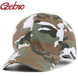 Geebro Camuflaje Color Gorra de béisbol Cerrado completo Disfraz Pretender Aficionados del ejército Uniforme Sombreros deportivos para hombres Mujeres JS189