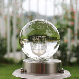100mm Round Glass Crystal Ball Magic Clear Healing Divination Sphere Room Dec 1C