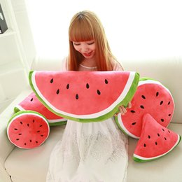 Wholesale Decorative Pillow Lovely Cartoon Watermelon Pillow Home Cushion Fruits Modeling Plush Toys Cheap Fashion Home Textiles