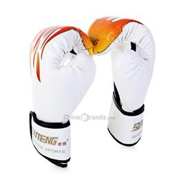 28796ad9c 1 Par Sparring Muay Thai Grappling Fogo Padrão Pontapé Mulheres Homens MMA  Luvas De Boxe F