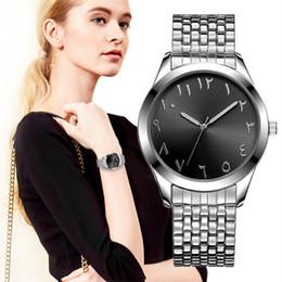 $enCountryForm.capitalKeyWord Canada - BAOSAILI Blue Dial Arab Numbers Elastic Quartz Wristwatch Stainless Steel Women Bracelet Watches For Women Clock Relojes