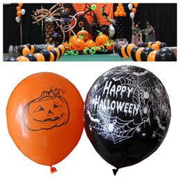 $enCountryForm.capitalKeyWord NZ - Latex Balloons Spider Web Pumpkin Horror 12 Inch Halloween Decoration Globos Helium Air Ball Kids Toy Birthday Party Decor DHL LE73