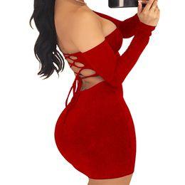 d250327eeb new Sexy Nightclub bag hip skirt Sexy tube top skirt European and American  women long-sleeved halter dress