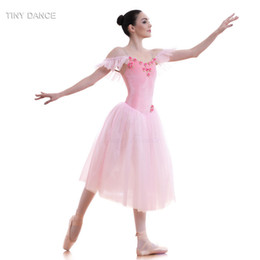 ballerina tutus for girls Canada - Pink Velvet Bodice and Soft Tulle Long Ballet Tutu for Girls & Women Dancing Dress Adult Ballerina Costume Romantic Tutus 18582
