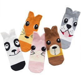 kinder socks wholesale UK - 5 Pair lot Baby Breathable Boys Girls Socks For Children Sock Kawaii Pattern Cotton Kids Socks 7 Kinds Style Suitable For 1-12Y