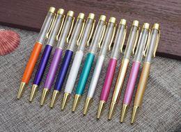 Venta al por mayor de Sin cristales Bolígrafo Sin cobre Sin aceite Con barril vacío Bolígrafos metálicos para escribir en la oficina de la escuela