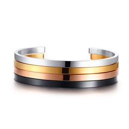 5b9e93d4039 Simple Thin Cuff Bracelet Manchette Gold Tone Stainless Steel Bangle  Bracelet for Women Multi Color Elegant Female Party Jewelry