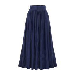 1bf60c2a7445 EmpirE waist skirts online shopping - Pleated Skirts Womens Summer Fashion Long  Skirt Elastic High Waist