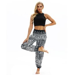 $enCountryForm.capitalKeyWord NZ - Yoga Pant Women Tribe Printed Travelling Harem Trousers Breathable Pant Loose Wide Leg High Waist Comfy Legging Bohemian Style