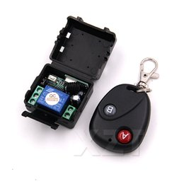 Wholesale High Quality Remote Switch Wireless Universal Remote Control DC V Button RF switch Telecomando Transmitter Receiver MHZ