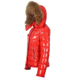 Frankreich Luxusmarke Daunenjacke Wintermantel Frauen Oberbekleidung Daunenjacke Schlank Parkas Jacke Waschbärpelzkragen Daunenjacke Warme Wintermäntel