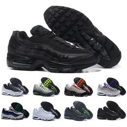 check out 8b769 ca98c nike air max 95 airmax Remise Marque De Mode Femme 95 Chaussures de Course  Pour Les Femmes Respirant Sport Noir Blanc Rouge Femmes Formateurs Sneakers  Mode ...