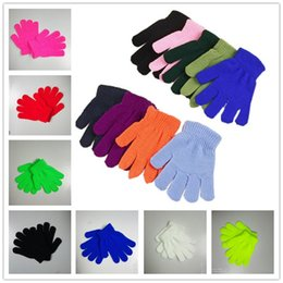 $enCountryForm.capitalKeyWord Australia - Children Winter Magic Gloves Solid Candy Color Boys Girls Kintting Glove Kids Warm Knitted Finger Stretch Mittens Students Outdoor Glove Hot