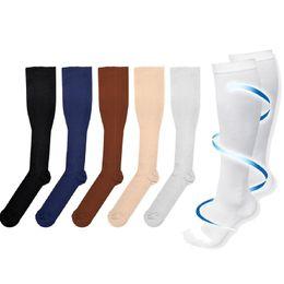 Men's Socks Bright Long Miracle Compression Knee Socks Blood Circulation Stockings Breathable Fat Burn Leg Slimming Socks Anti Fatigue Male Socks