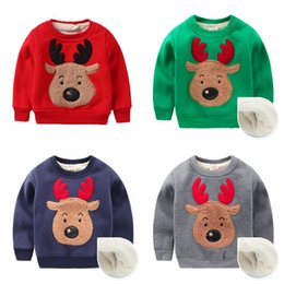38428ad5ab BaBy Boy jumper pullover sweater winter online shopping - Boys Christmas Elk  Print Hoodies Kids Long
