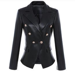 Опт Новый с этикеткой бренд B высокое качество оригинальный дизайн женская тонкая кожаная куртка металлические пряжки двубортный черный Мотоциклетная куртка S-3XL