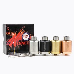 $enCountryForm.capitalKeyWord UK - Newest Vaporizer Kennedy 25 RDA Replaceable Atomizer 25MM Diameter Red Copper Material Larger Build Deck 510 Threading Fits Most Box Mod DHL