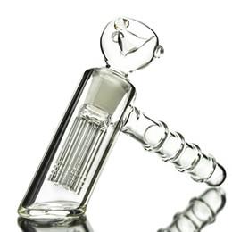 $enCountryForm.capitalKeyWord UK - Small Smoking Pipe Hammer Shape Bubbler 6 Arm tree Perc Glass Pipe 4.1 inch Mini Glass Bong Bubblers Pipe For Smoking WP154
