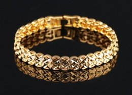 $enCountryForm.capitalKeyWord NZ - Europe American New arrival women men fashion jewelry hollow 18K gold plated Bracelets link chain lover gift Chiristmas Valentine's day