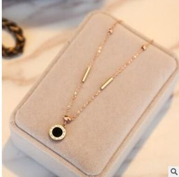 $enCountryForm.capitalKeyWord Canada - 18K rose gold anklet Titanium steel roman digital beads pearl tassel love small bell anklets 16