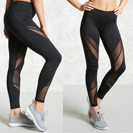 $enCountryForm.capitalKeyWord Canada - Womens Black Mesh Leggings Lace Long Leggings Fitness Pants Stretch Trouser