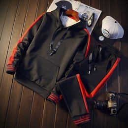 Body Fitness Suit Australia - NEW Hoodies Sport Suit Running Men Clothing Set Gym Sportwear Tracksuit Fitness Body building Mens Hoodies+Pants Suit Jogger Men
