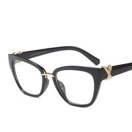 7bd2a0cc382 Black cat eye glasses frames for women 2018 rhinestone decoration fashion  eyeglasses women gift high quality