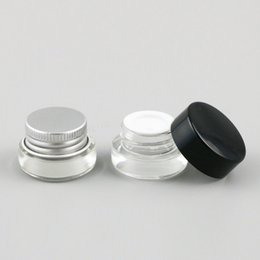 Aluminium mAke up online shopping - 30 X g Traval Small glass cream make up jar with aluminium lids white pe pad oz cosmetic container packaging glass jar