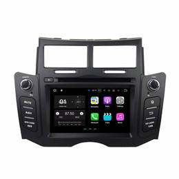 "Discount cd player with fm radio Android 7.1 Quad Core 6.2"" Car DVD Car radio dvd GPS Multimedia Head Unit for Toyota Yaris 2005-2011 With Bluetooth"