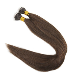 Chinese  Color #4 Chocolate Brown Nano Ring Human Hair Extensions 1g Strand 50g 100g Remy Human Hair Extensions manufacturers