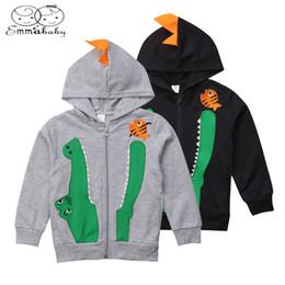 $enCountryForm.capitalKeyWord Australia - 2019 Autumn Kids Baby Boys Dinosaur Hoodie Coat Jacket Sweatshirt Top Zipper Hooded Outwear