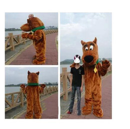 nose s NZ - 2018 Discount factory sale Brown Snoopy Dog Scooby Doo Mascot Costume Mascotte With Black Large Nose Cartoon Character Adult Fancy Dress