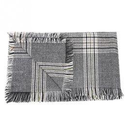 Big Tassel Scarves UK - Fashion Autumn Winter Knit Houndstooth Big Size Quality Wool Spinning Long Women Shawl Classic Versatile Tassels Wool Scarf