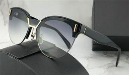 Discount top designer sunglasses - new fashion designer sunglasses 04U women popular frameless cat eye glasses top quality popular style uv 400 eyewear