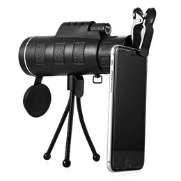 China Day and Night 40x60 HD Vision Handheld Optical Monocular Outdoor Telescope Camping Hunting Zoom With Compass Tripod Phone Clip supplier handheld monocular telescope suppliers
