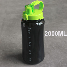 Опт 1L/ 2L 2000ml Black white large size Portable Water Bottle Space Herbalife Nutrition Shaker straw style strap water Bottle
