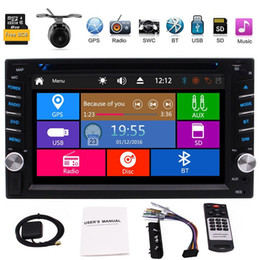 2din gps NZ - EinCar 6.2'' Double 2Din In Dash Car DVD CD Player GPS Stereo Radio FM AM BT AUX USB RDS+MAP CARD+Remote Control+Dual Card+Camera