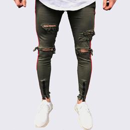Hombres De Jeans De Raya Lateral Oferta Online Dhgate Com