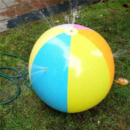 inflatable animals for pool 2019 - Inflatable Beach Water Ball Outdoor Inflated Toy For Baby Kids ater Spray Balloon Outdoors Play In The Water Beach Ball