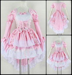 angels costume woman 2019 - Women Black & Pink Maid Outfit Lolita Dress Girl Tuxedo Removable-Sleeves Bow-Tie Anime Angel Princess Dress For Lady