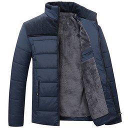 $enCountryForm.capitalKeyWord NZ - Winter Parka Men Casual Cashmere Blouson Homme Stand Collar Jacket Mens Keep Warm Thick Splice Coats Plus Size 4XL Man Overcoat C18111301